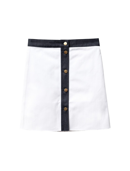 Etienne Deroeux Womens Leona Denim Skirt