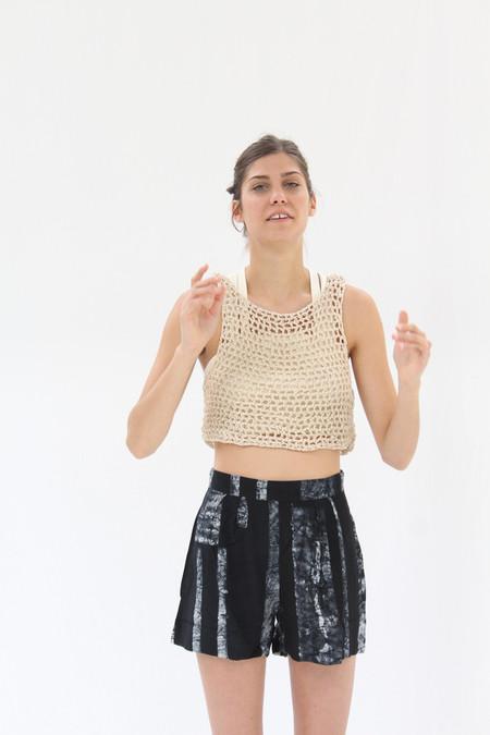 Osei Duro Linia Crochet Tank in Cream