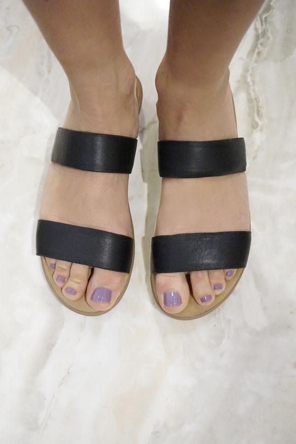 Charlotte Stone Shiloh Sandals Black
