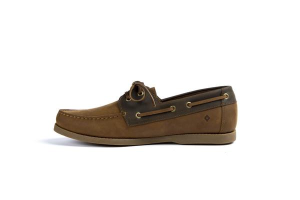 Mens Nisolo Pescador Boat Shoe Oak & Steel