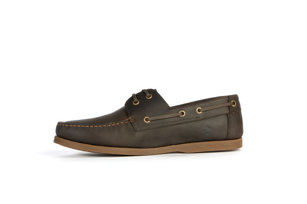 Mens Nisolo Pescador Boat Shoe Steel