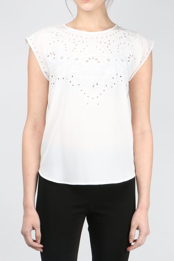 Veronica Beard Melia Embroidered Shell Top