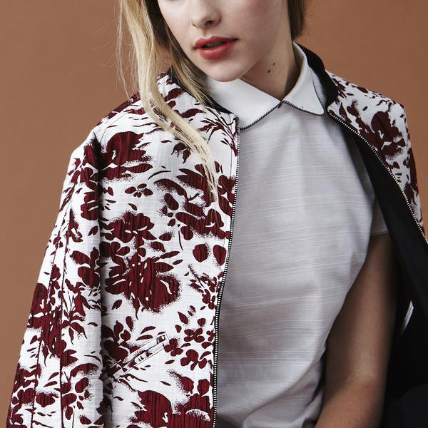 Nikki Chasin Captain Reversible Bomber Jacket -  Floral Jacquard