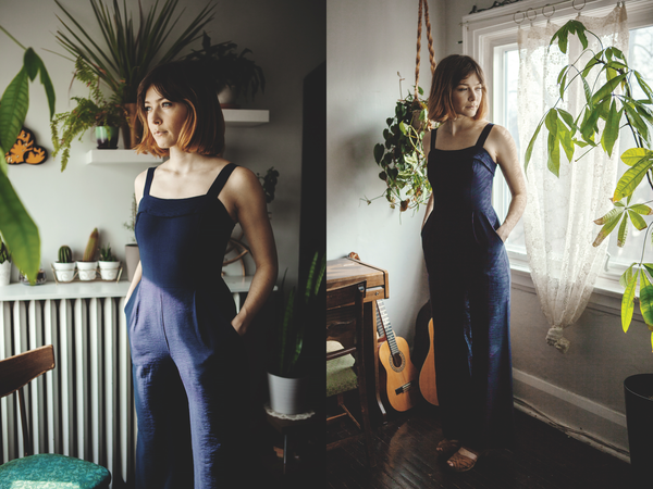 Birds of North America Sugarbird Jumpsuit (Navy)