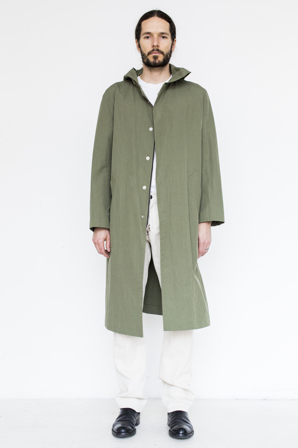 Men's Assembly Cotton Hoodcoat - Army