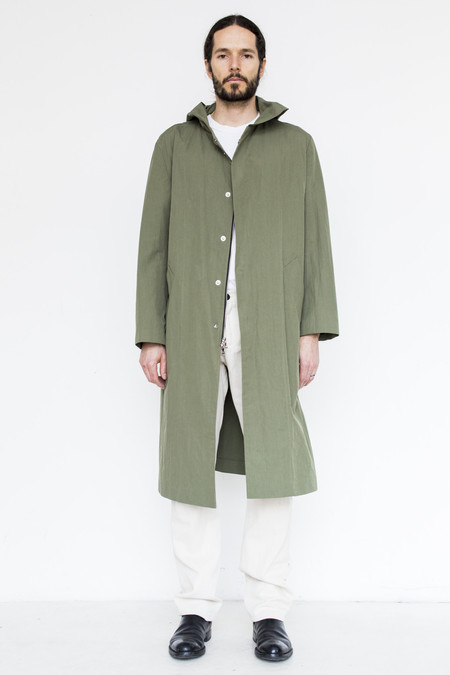 Men's Assembly Cotton Hoodcoat - Army