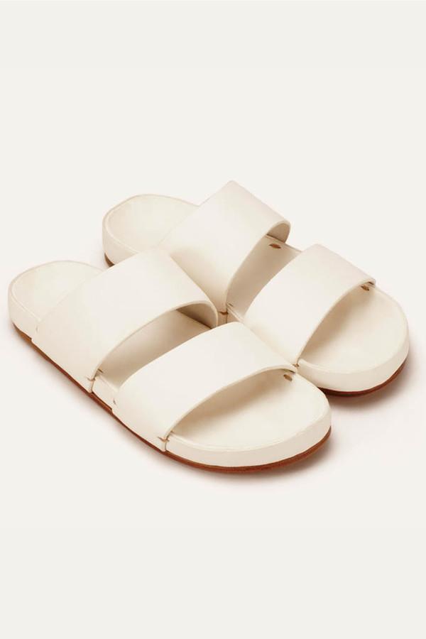 Men's FEIT Feit White Leather Sandal