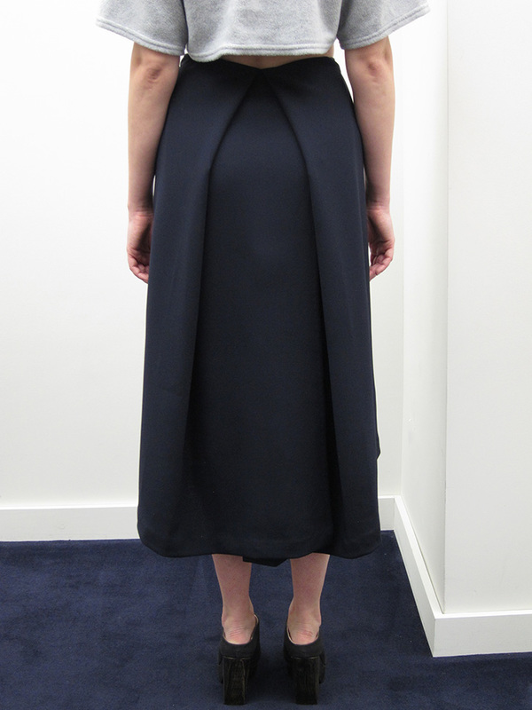 KAAREM Piece of Ring Pleated Midi Skirt