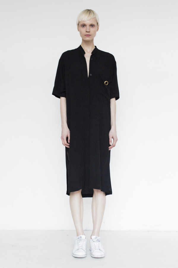Assembly Crepe Shirtdress