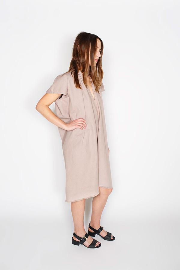 Miranda Bennett Everyday Dress, Cropped, Denim in Dove