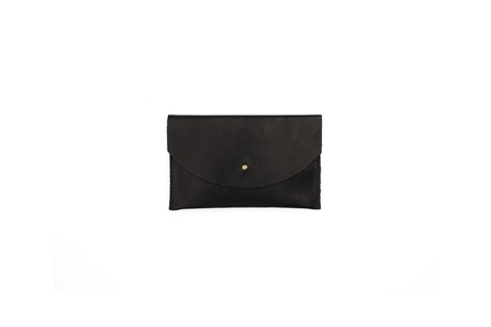 Primecut BLACK LEATHER PASSPORT CLUTCH