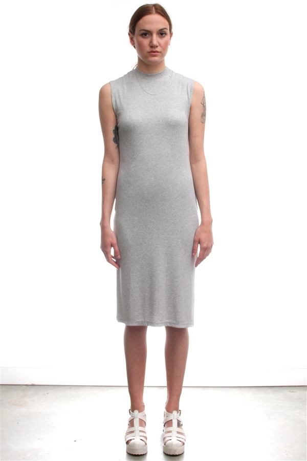 Nomia Mock Neck Midi Dress