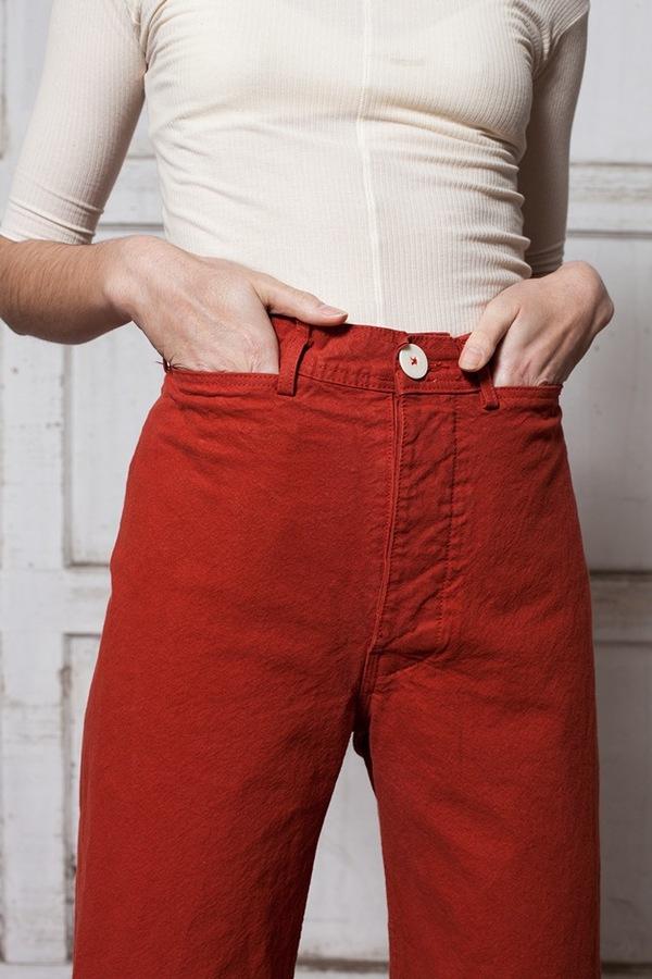 Jesse Kamm Sailor Pant - iron oxide
