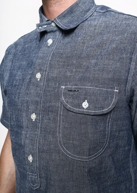 Men's Rogue Territory Pop Over in Blue Chambray