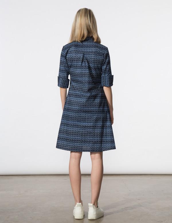 SBJ Austin Ellen Dress in Navy Print