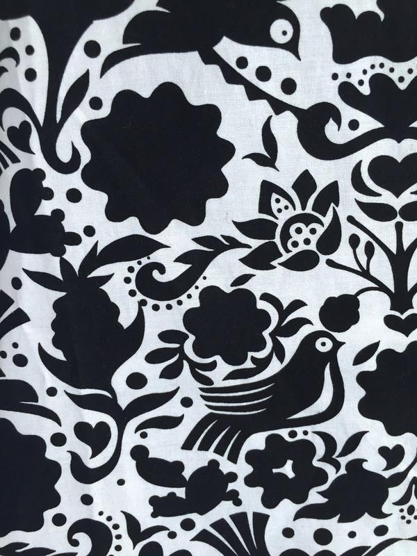 SBJ Austin Kristin Dress in Black/White print