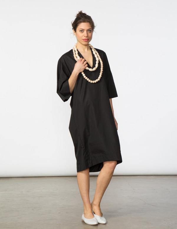 SBJ Austin Sadie Dress in Black Poplin