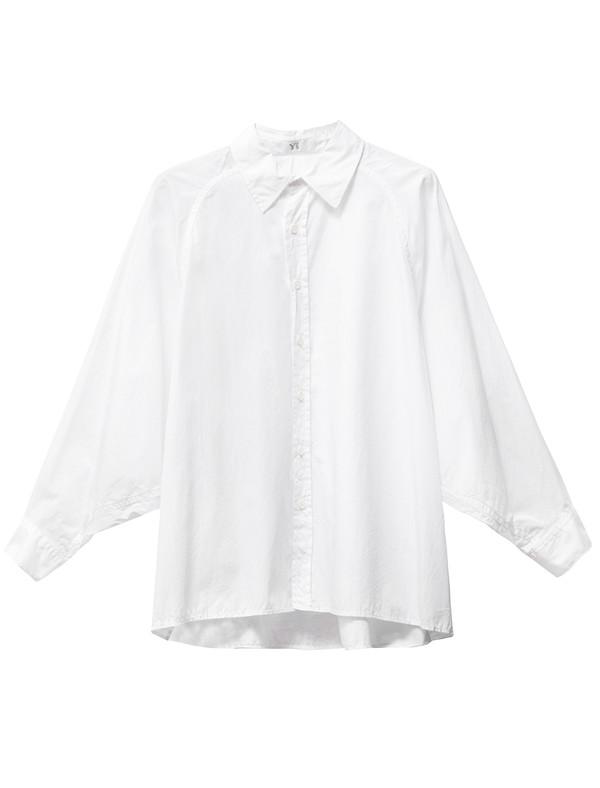 Ys by Yohji Yamamoto Dolman Sleeve Shirt White