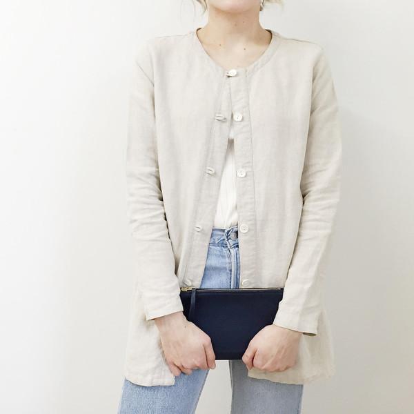 Long Beige Linen Jacket