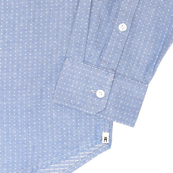 Men's Bridge & Burn Depoe Blue Dobby Shirt
