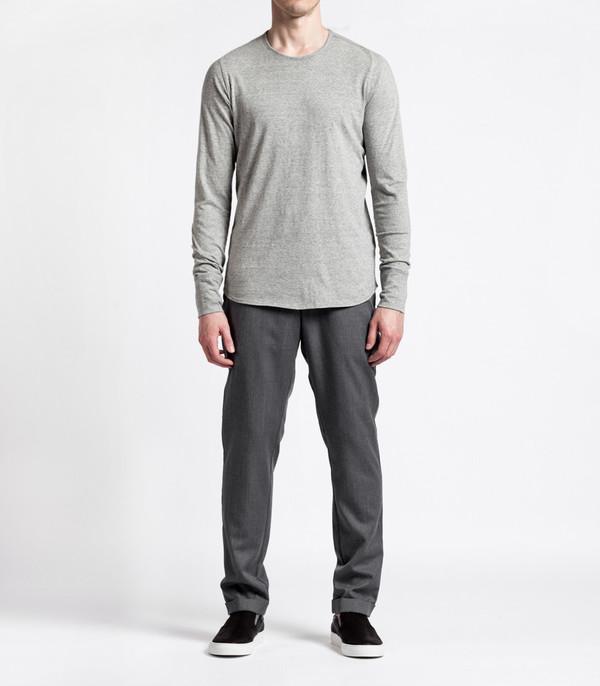 Men's Wings + Horns Knit Silk Jersey L/S WHT