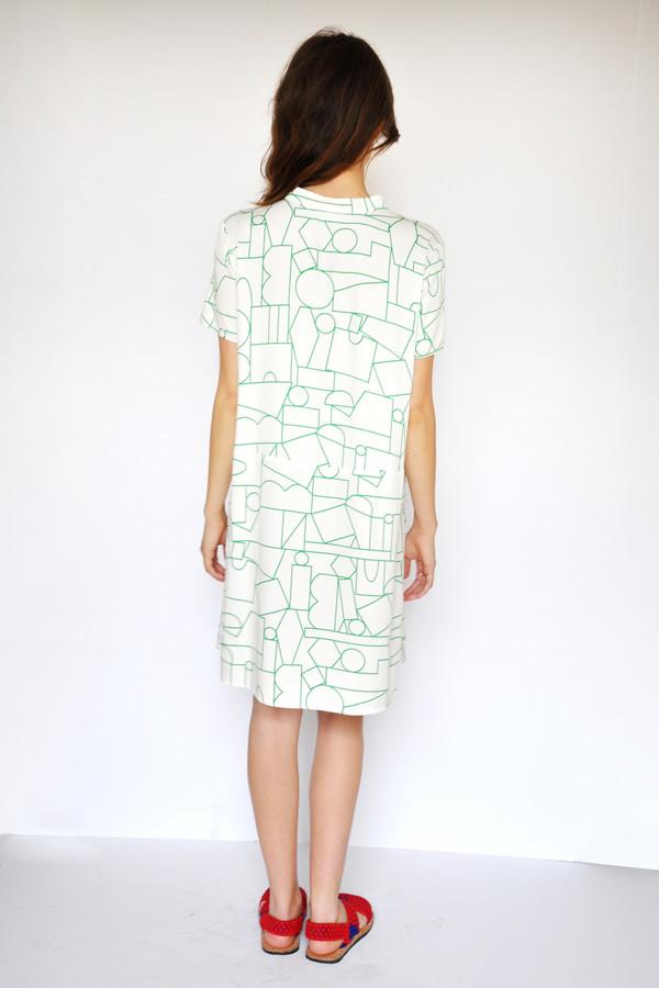 Dusen Dusen Blockhead Green Oversize Tee Dress