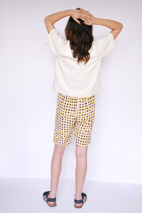 Dusen Dusen Peach Double Dot Elastic Waist Shorts