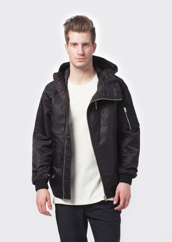 Men's NLST Double Zip Hooded Flight Jacket
