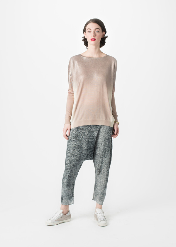 Avant Toi Laminated Oversize Jersey Top