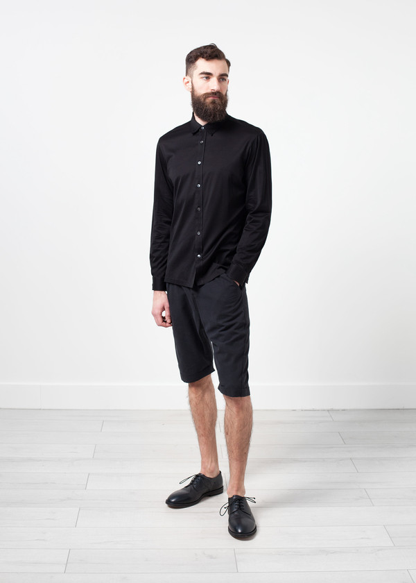 Men's Mauro Grifoni Scotland Button-Up in Black