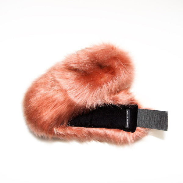 Soft Rose Faux Fur Headband
