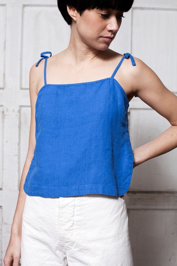 Rachel Comey Sol Crop Top - blue