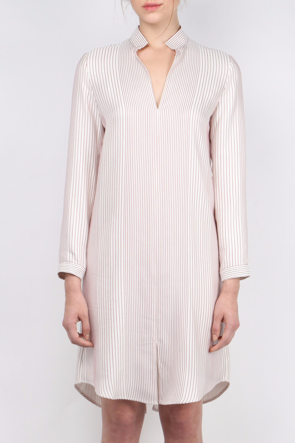 Atea Oceanie Silk Striped Tunic Dress