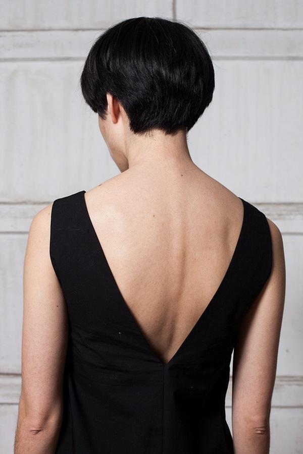Horses Atelier V-Neck Chemise - soft black