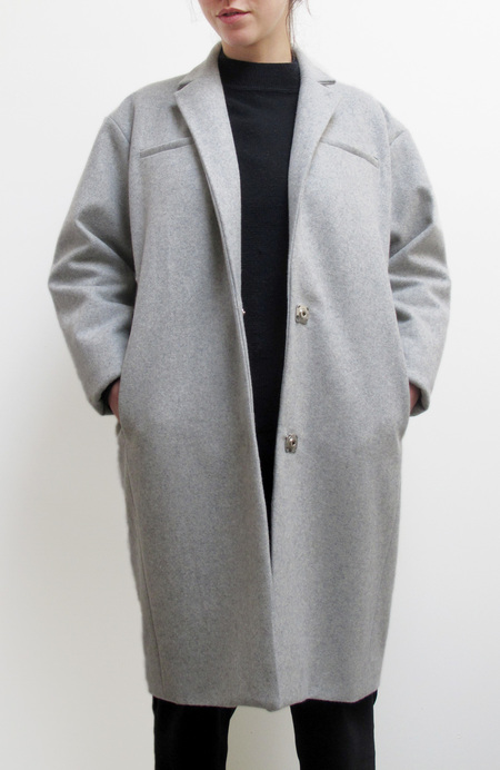 Waltz Notch Collar Coat in Heather Gray