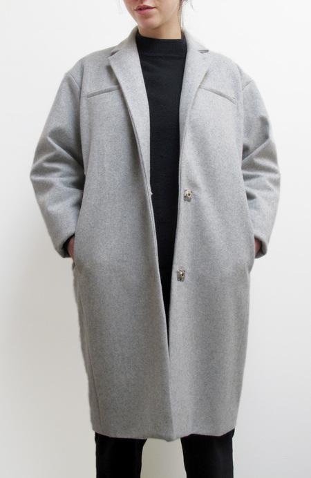 Waltz Notch Collar Coat in Heather Gray