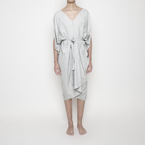 7115 by Szeki Dotted Kimono Dress R16
