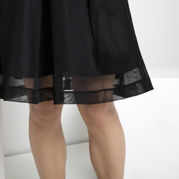 7115 by Szeki Fishnet A-Line Skirt FW15