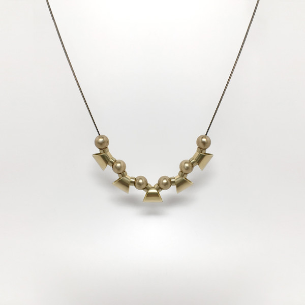 7115 by Szeki Trapezoid Fin Necklace