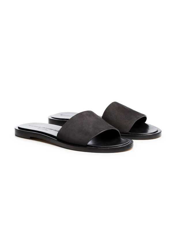 Woman by Common Projects Womens Slide - Suede Faded Black