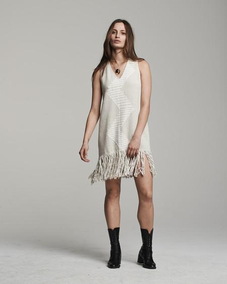 VOZ Zig Zag Dress - Sand