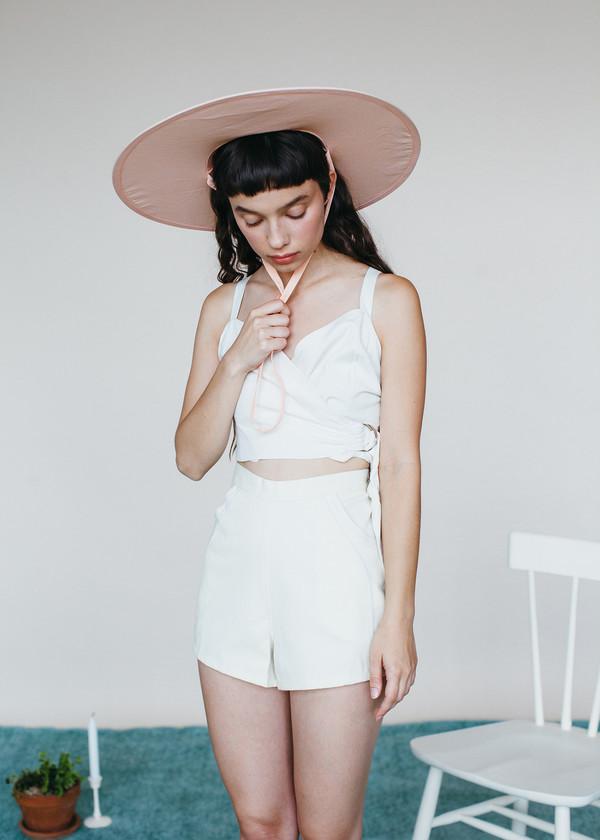 Samantha Pleet Curtain Blouse - Ivory