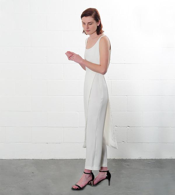Catherine Quin White Seagram Jumpsuit