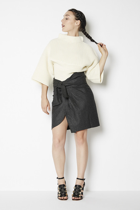 Achro Belted Wrap Mini Skirt
