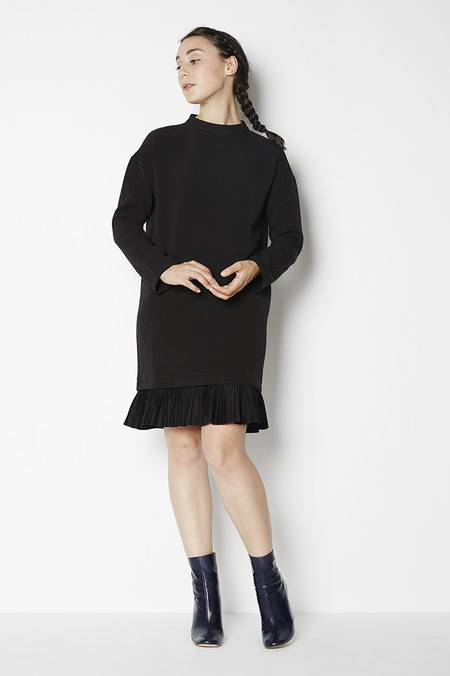 Blaque Label Long Sleeved Dress with Pleated Hem