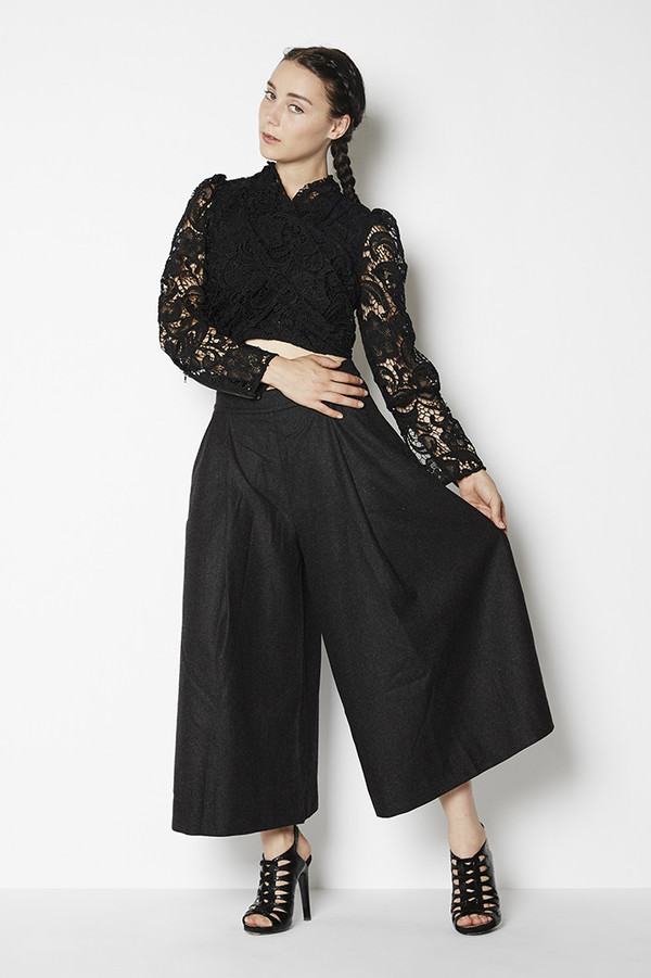 Achro Pleated Wide Culottes
