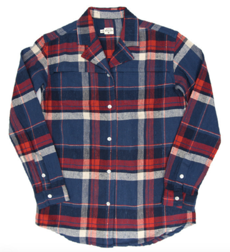 Bridge & Burn Paige Indigo Plaid Shirt