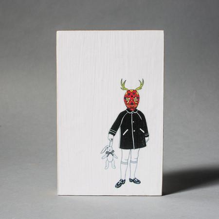 Carlos Baldizon Martini Girl with Deer Mask
