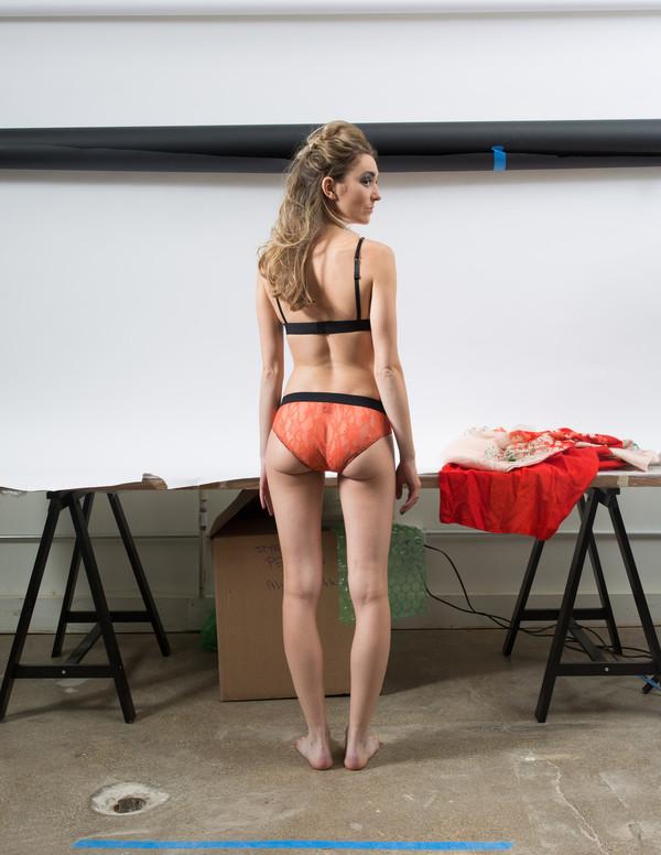 Kriss Soonik Silvia Sunset Orange Lace Bra