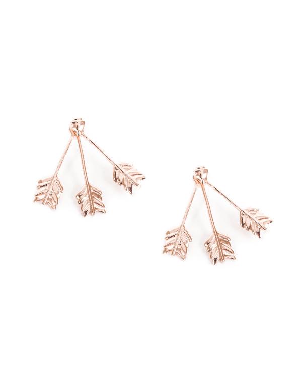 Pamela Love Triple Arrow Ear Jacket in Rose Gold